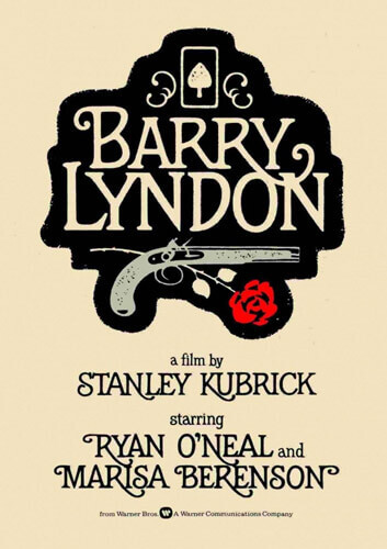 Póster de 'Barry Lyndon', una película de Stanley Kubrick basada en la novela de William Makepeace Thackeray.